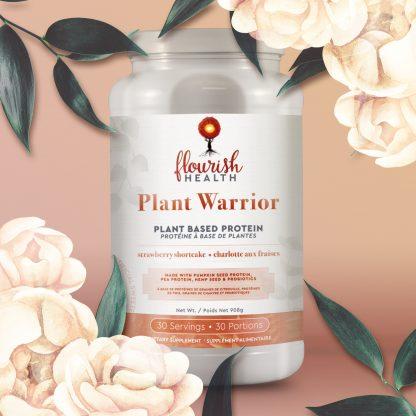 Flourish Health | Plant Warrior Protein (Strawberry Shortcake)
